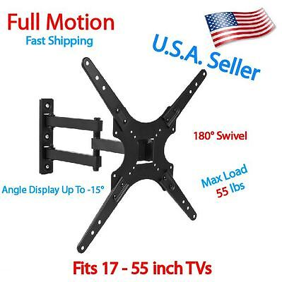 Full Motion TV Wall Mount Swivel Bracket 32 40 42 47 55 Inch LED LCD Flat Screen