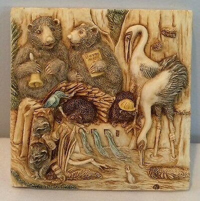 NIB Harmony Kingdom Picturesque Tile Figurine Noah's Park Flume Lagoon #PXND3
