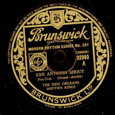 NEW ORLEANS RHYTHM KINGS  San Antonio Shout / The Jazz me Blues    78rpm   X2646