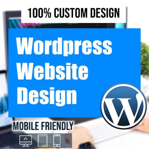 WORDPRESS WEBSITE - ✔CUSTOM WEBSITE DESIGN - ✔PROFESSIONAL & ✔MOBILE FRIENDLY✨