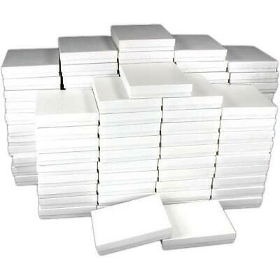 100 White Swirl Cotton Filled Jewelry Gift Box 6 18