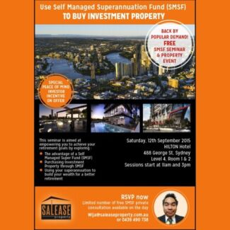 Free smsf and Brisbane property seminar Sydney City Inner Sydney Preview
