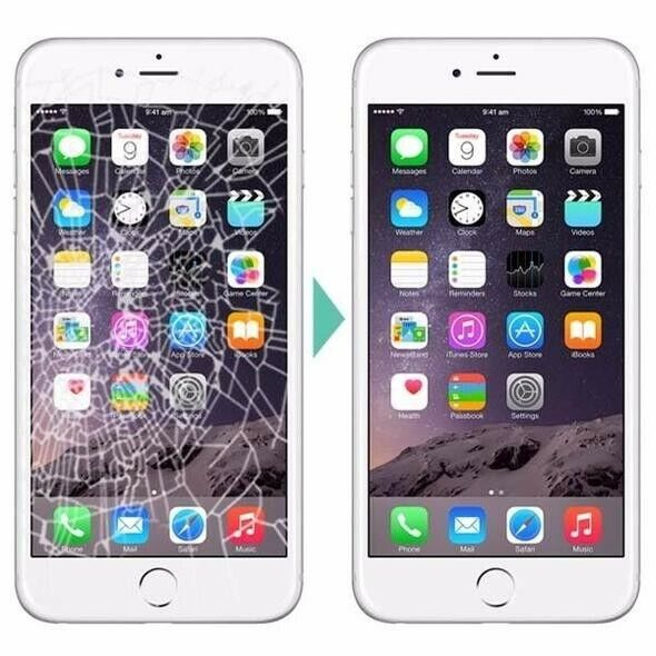 Iphone 8 Plus Cracked Broken Glass And Lcd Screen Repair Replacement Service