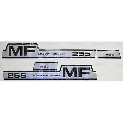 New Massey Ferguson Hood Decal Set Mf255 Hump Hood
