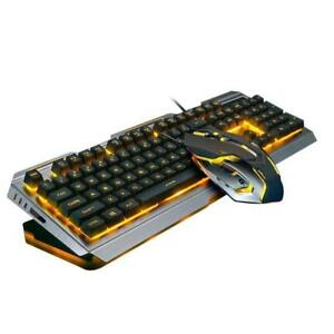 Wired Illuminated Usb Gaming Keyboard and Mouse Gamer Free Ship