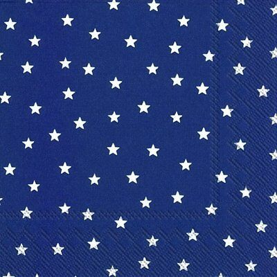 LITTLE STARS dark blue Tree paper 33cm square 3 ply napkins 20 pk