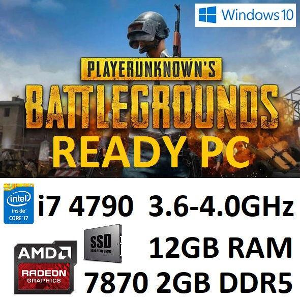 PUBG Ready i7 4790 12GB RAM 256GB SSD HD7870 2GB Windows 10 Gaming PC | in  Wath-upon-Dearne, South Yorkshire | Gumtree