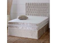 DEEP QUILTED BED SET-- BRAND NEW Crush Velvet Base DEEP QUILTED Mattresses Terrell