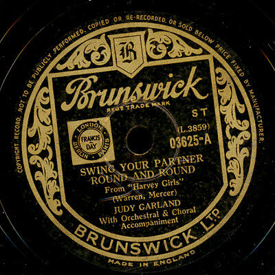 JUDY GARLAND  Swing your partner round and round / KENNY BAKER  Wait...    S8106