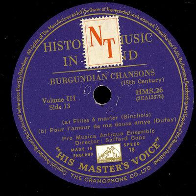 "PRO MUSICA ANTIQUA ENSEMBLE ""History of Music in Sound"" Burgundian...  /   G2456"