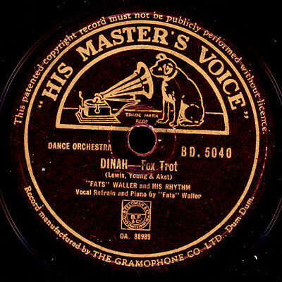 FATS WALLER & HIS RHYTHM  Dinah / When somebody thinks you're wonderful   X1706