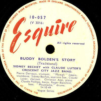 SIDNEY BECHET & CLAUDE LUTER Buddy Bolden's Story/ Ce mossieu qui... 78rpm X3423