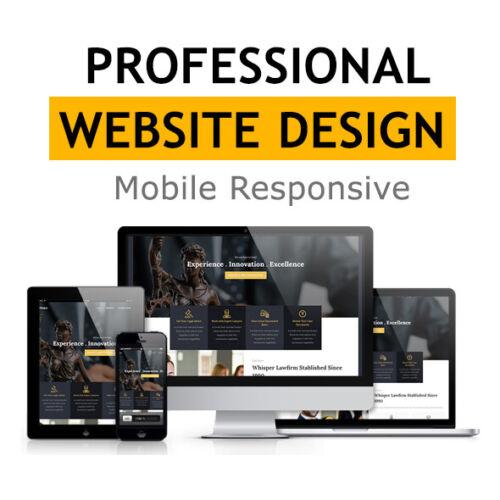 WORDPRESS WEBSITE - CUSTOM WEBSITE DESIGN - PROFESSIONAL + MOBILE RESPONSIVE