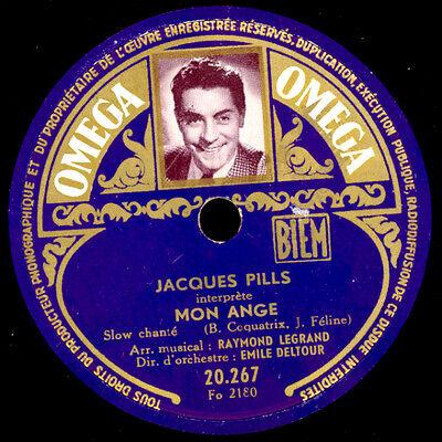 JACQUES PILLS -CHANSON- Mon Ange / Sans vous   Schellackplatte  78rpm   S8289