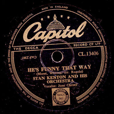STAN KENTON & HIS ORCH. & JUNE CHRISTY  He's funny that way / Soothe me    X1539