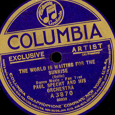 """PAUL SPECHT & HIS ORCHESTRA """"Golden 20's"""" The world is waiting for the... S8934"""