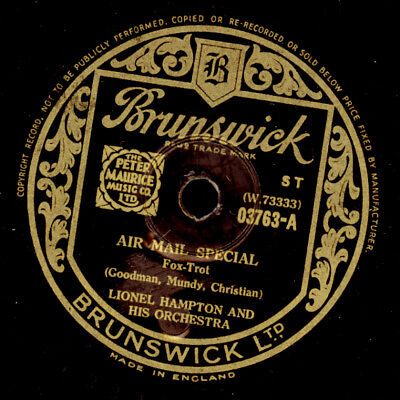 LIONEL HAMPTON & HIS ORCH. Air Mail Special 1&2    Schellackplatte 78rpm   X2408