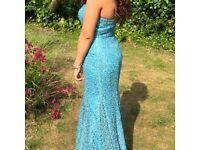 Topaz Blue Sequin Prom/bridesmaid Dress