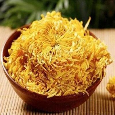 Organic Gold Huang Ju 4 Pcs Large Chrysanthemum Flower Tea Herbal Tea in Summer