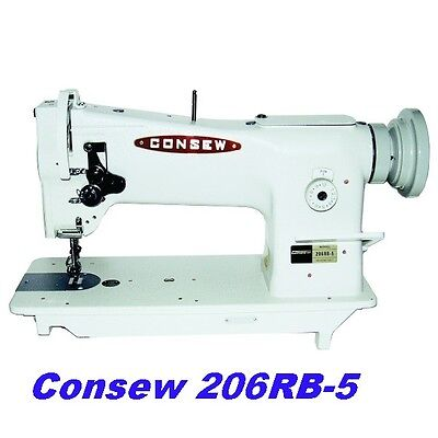 Consew 206rb-5 Triple Feed Upholstery Walking Foot Sewing Machine - Head Only