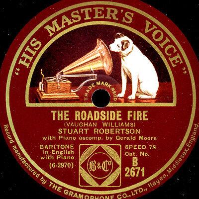 STUART ROBERTSON -BARITONE- The Roadside Fire 7 Bright is the Ring.. 78rpm S9790