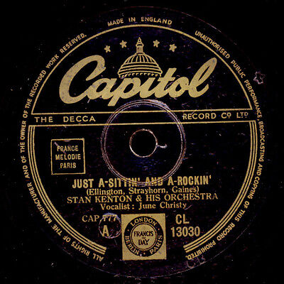 STAN KENTON & HIS ORCH. & JUNE CHRISTY  Just a-sittin' and a-rockin' / ... X1537