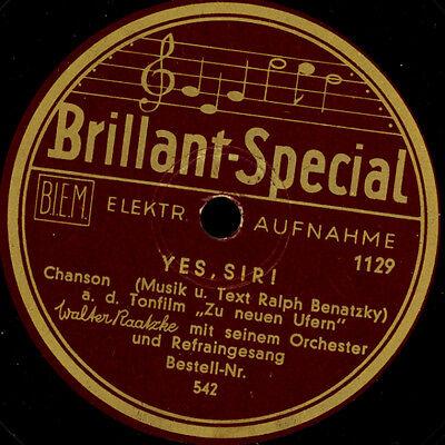 Chanson UFA Tonfilm ODEON Schellackplatte 78rpm RECORD++ Sir ZARAH LEANDER Yes