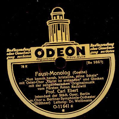 """PROF. CARL EBERT (Intendant Oper Berlin) Faust-Monolog / """"Egmont"""" Goethe  S8733"""