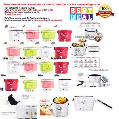 Best Cooker Rice  And Warmer Electric 110v 1L 220V Car 12v 24v For 2 pepole