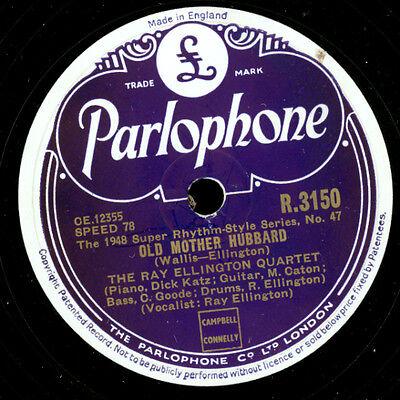 RAY ELLINGTON QUARTET  Old mother Hubbard / Black eyes    Schellackplatte  X2194