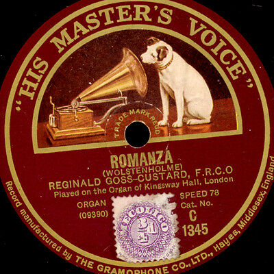 REGINALD GOSS-CUSTARD -ORGAN of Kingsway Hall London- Romanza / Madrigal   G2965