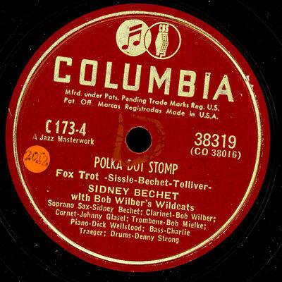 SIDNEY BECHET & BOB WILBER'S WILDCATS Polka Dot Stomp   Schellackplatte X3439