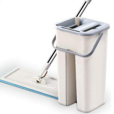 Dry Wash System - Clever Clean Free hand Wash Mop Floor System Auto Cleaning Drying 2 Set Rod