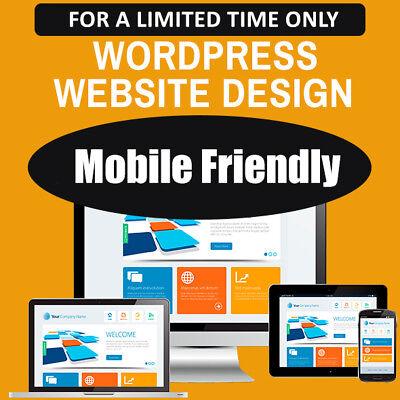 WordPress Website Custom Web Design - Professional & Mobile Friendly!