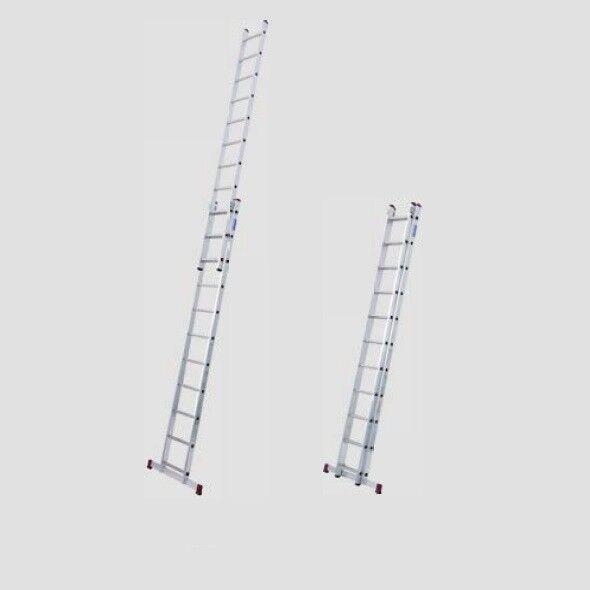 KRAUSE Corda Alu SchiebeLeiter Anlegeleiter 2x8 • 2x11 Sprossen DIN EN 131-1