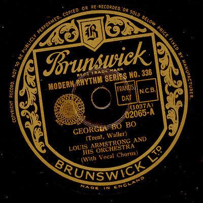 LOUIS ARMSTRONG & HIS ORCHESTRA  Georgia Bo Bo / Wild Man Blues    78rpm  X3044