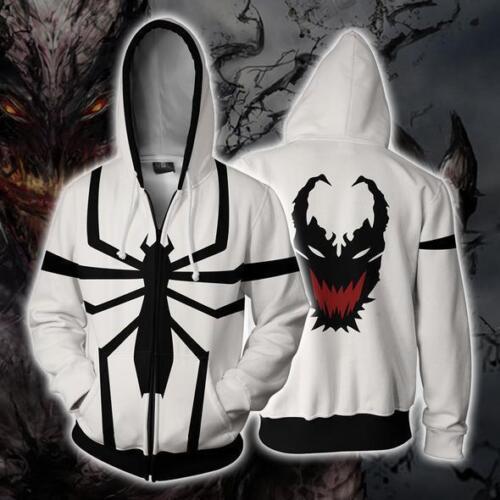 Ultimate Spider-Man Hoodie Venom Sweatshirt Jacket Cosplay Zipper Coat Hooded