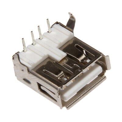 2 x USB B Mini Kupplung Einbau Einbaukupplung Einbaubuchse zum Löten 5 PIN 90°