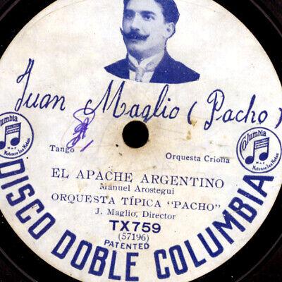 "ORQUESTA ""PACHO"" -TANGO ARGENTINO- El Apache Argentino ""Steinzeit-Tango""   S2857 segunda mano  Embacar hacia Argentina"