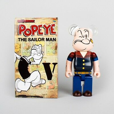 Medicom 400% Bearbrick ~ DRX Navy Popeye Be@rbrick The Sailor Man