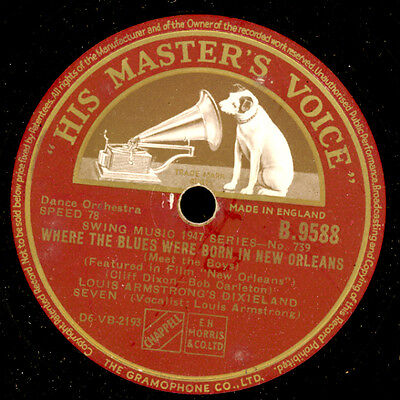 LOUIS ARMSTRONG DIXIELAND SEVEN  Where the Blues were born.. / Mahogany..  X2185