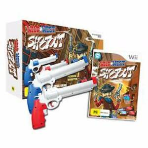WII : Wild West Shootout game + controllers + Pulse Wii enforcer Hampton Park Casey Area Preview