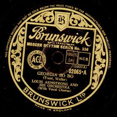 LOUIS ARMSTRONG & HIS ORCHESTRA  Georgia Bo Bo / Wild Man Blues    78rpm  X2399
