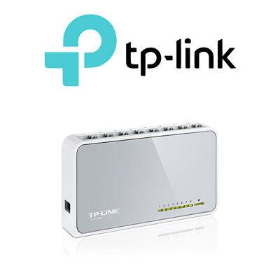 TP-LINK 8 Port Fast Ethernet 10/100Mbps Network Switch Desktop RJ45 - TL-SF1008D