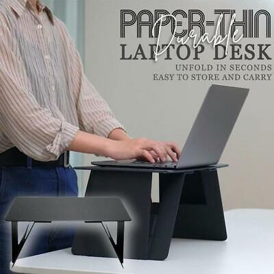 Paper-Thin Durable Laptop Desk For Bed Office Foldable Laptop Stand Portable