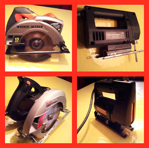 Disk Saws & Jig Saws. Like New. Moving Sale Prices. $19 to $59