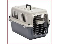Barkshire Dog Carrier Airline Approved - Grey/White Small