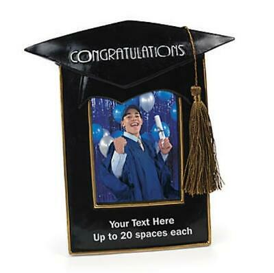 Graduation Photo Holder Easel Picture Frame w/ Free Personalization 8.5