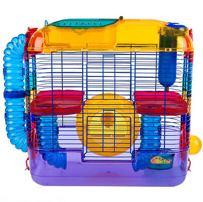 CRITTERTRAIL TWO LEVEL CAGE HABITAT FOR HAMSTERS & GERBILS
