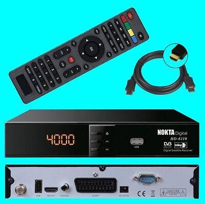 HD SAT Receiver Nokta 6110 ✔ USB ✔ HDMI ✔ Scart ✔ DVB-S2 ✔ Digital ✔ Full HDTV